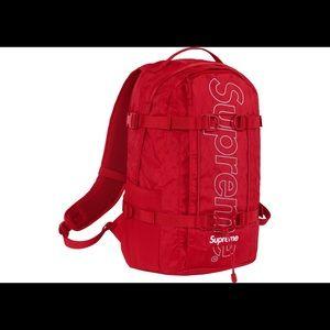 Supreme Red Bagpack FW18